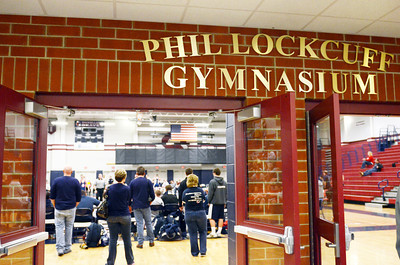 The gymnasium at Shikellamy High School was dedicated the Phil Lockcuff Gymansium on Saturday afternoon in Sunbury.
