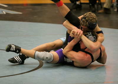 Chantilly High School struggles to avoid the cradle at the Northern Region Championship.