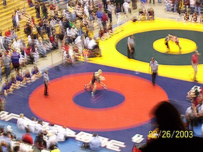 Cory wrestling in the state tournament