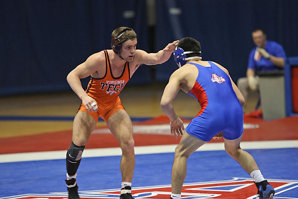 Virginia Tech - Cameron Hurd<br /> American - Ganbayar Sanjaa