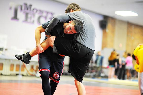 Monty Tech Wrestling Practice