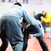 Monty Tech freshman Tyler Popp (right) wrestles against teammate Dennis Begley, a junior, during practice on Monday.<br /> SENTINEL & ENTERPRISE / BRETT CRAWFORD