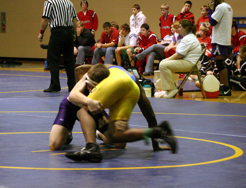 Jacob Hirsch going for the takedown