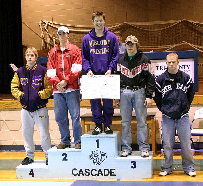 Gavin winning first place at the Cascade tournament.
