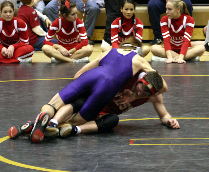 Nolan taking his opponent to his back