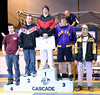 Mike receiving fourth place at the Cascade tournament.