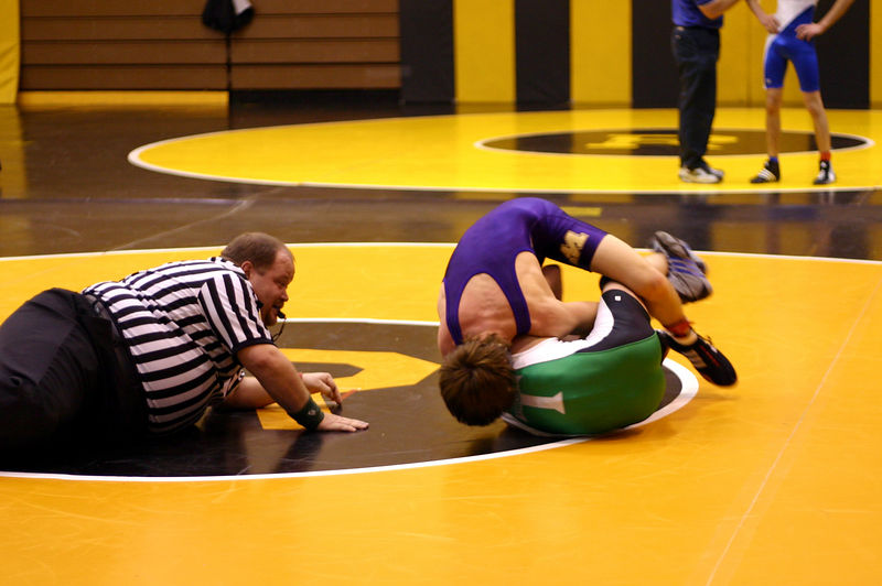 Colin turning his opponent to his back at Riverdale