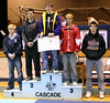 Jason receiving fifth place at Cascade.