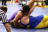 Hiram pinning his Davenport North opponent