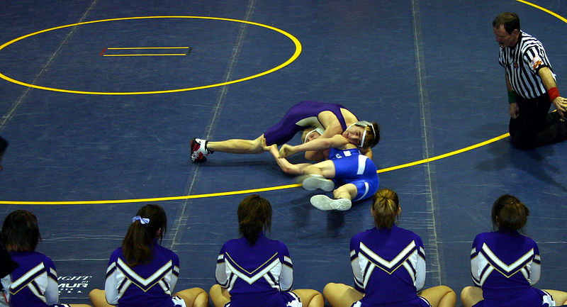 Nolan trying to turn his opponent to his back.