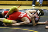 Colin pinning his Davenport West opponent