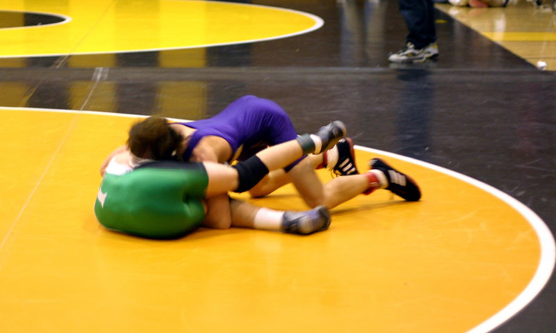 Colin trying to turn his opponent to his back