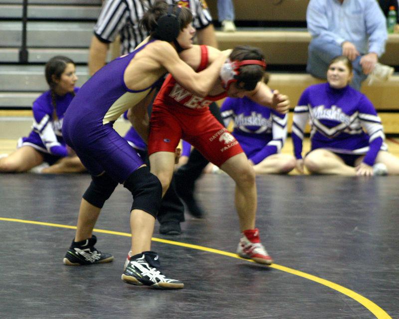 Jon Booker against Davenport West opponent