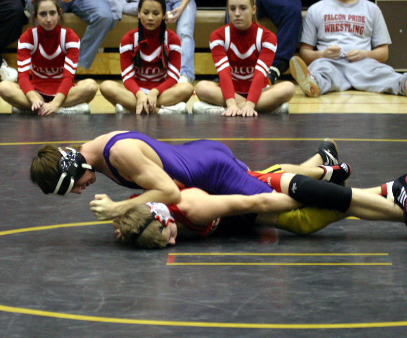 Colin of top of his Davenport West opponent