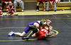 Josh Greenley going for a pin