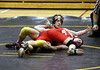 Colin trying to pin his opponent