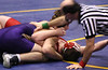 Gavin pinning his opponent