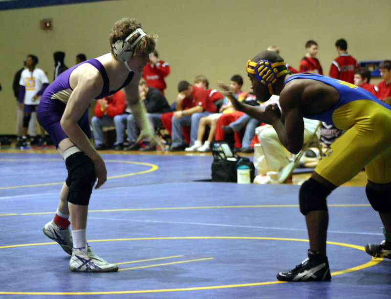 Joe Taylor in his first match of the day.