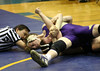 Joe Taylor pinning his opponent