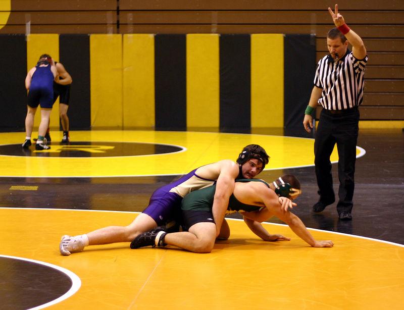 Gavin trying to break his opponent down