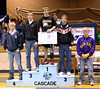 Nolan receiving first place at Cascade.
