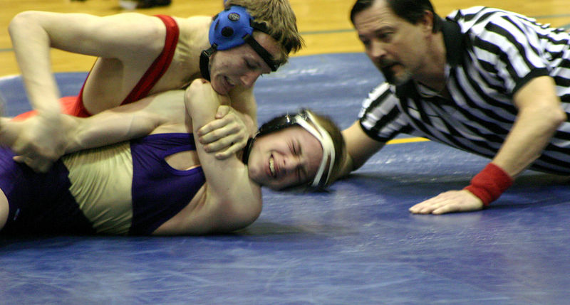 Jacob Hirsch getting rolled to his back