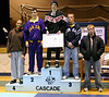 Jarrell receiving fourth place at Cascade tournament.