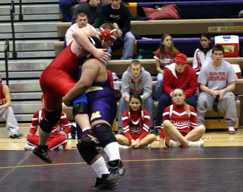 Hiram picking up his opponent.