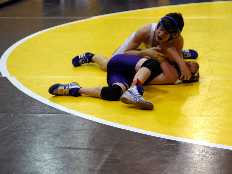 Josh trying not to get pinned