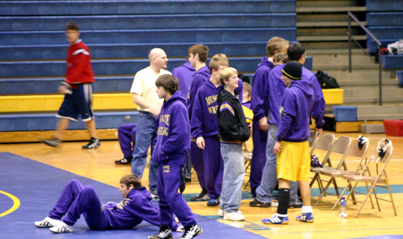 Alex and the team before their first match