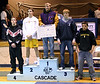 Tyler receiving fifth place at Cascade.