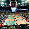 WARREN DILLAWAY / Star Beacon<br /> Nine mats line the floor of the Schottenstein Center during the Ohio High School State Wrestling Tournament in Columbus.