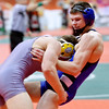 WARREN DILLAWAY / Star Beacon<br /> Grand Valley's Cody Rhoades (left) won his Division III 138 pound consolation match on Friday during the Ohio High School State Wrestling Tournament at the Schottenstein Center in Columbus.