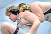 Dobyns-Bennett's Jonathan Ruth battles with David Crockett's Andrew Kyker in the Heavy weight class. Photo by Ned Jilton II