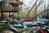 Camping enroute on the Edisto River (SC)