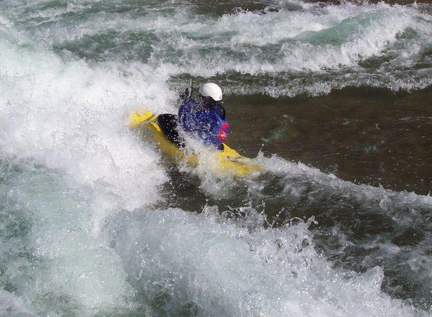 Enjoying a whitewater park