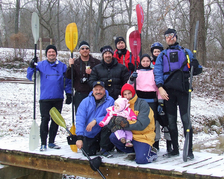Winter paddle on the Whitewater River (IN)