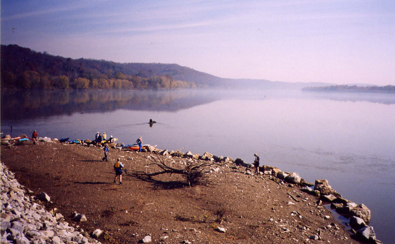 Manchester Island on the Ohio River