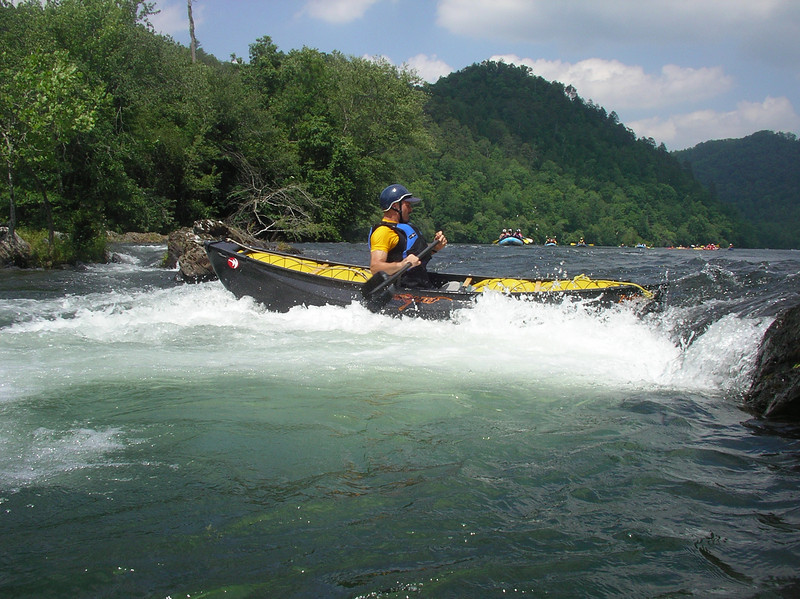 Side-surfing on the Hiwassee (TN)