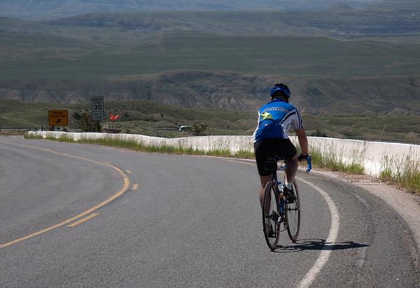 Bill on descent into Big Horn Basin