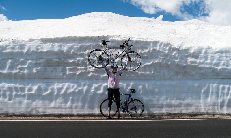 Randy encounters snow on June 30