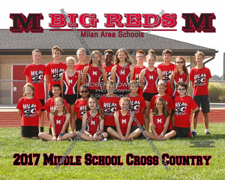 2017 Milan Middle School XC Team 8x10
