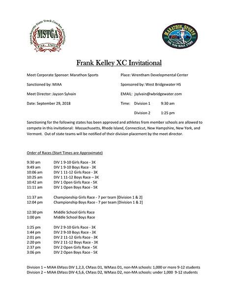 Frank Kelley XC Invitational