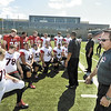 RPI Football Head Coach Ralph Isernia on Media Day.  (Mike McMahon / The Record) 08/23/13