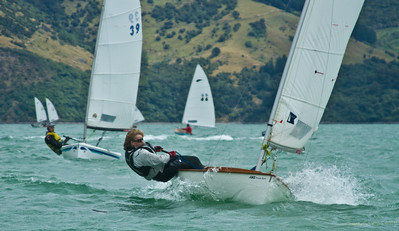 Cathryn Bridges, a 17 year old from Pleasant Point Yacht Club (Christchurch), sailing well in the Zephyr National Champs.