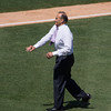 Joe Torre gets the first pitch.