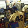 Jackie Robinson display in the Yankee Museum