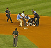 This intruder got arrested after sliding into second base
