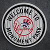 We visited Monument Park, which was very crowded.