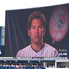 Johnny Damon is warning us to watch out for stray balls!